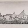 Habitants de L'ile pouynipet, avec leurs canots.