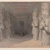 Interior of the Temple of Aboo Simbel. Nov. 9th, 1836. Nubia.