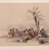 Abyssinian slaves resting at Korti, Nubia.