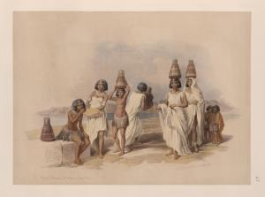 Nubian women at Kortie, on the... Digital ID: 1263773. New York Public Library