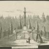 Humboldt's familienbegräbnis in Schlossgarten von Tegel.