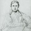 [Portrait de Ingres par lui-mème, dédié a ses éleves (1835). Mine de plomb. Musée du Louvre.]
