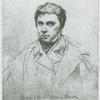 [Portrait de Ingres par lui-même (1822). Mine de plomb (Appartient à Mme. Joseph Marcotte.)]