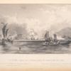 H. M. Ships Imogene and Andromache passing the Batteries of the Bocca Tigris.