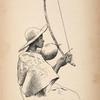 Jeune fille païenne jouant du thomo.