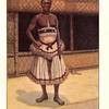 Kwete Peshanga Kena, chef actuel, en costume de cérémonie.