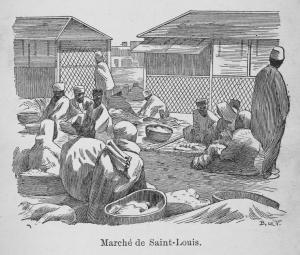 Marché de Saint-Louis.