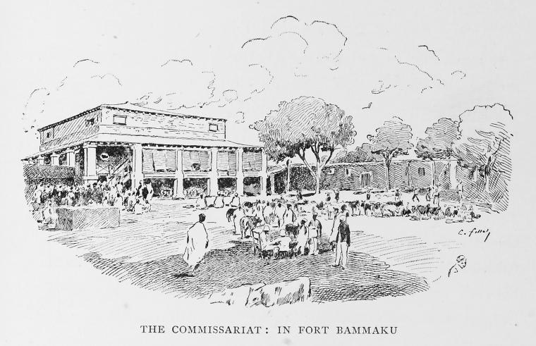 The commissariat: in Fort Bammaku.