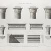 Île de Philæ. 1.2.3.4.11. Chapiteaux et corniche du portique du Grand Temple; 5.6. Corniches des deux pylônes; 7.8.9.10.12.13. Chapiteaux et corniche de la galerie de l'est.