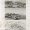Île d'Éléphantine et environs. 1-3. Vue et plans de la cataracte de Syène [Aswân] et des environs; 4. Vue des ruines d'Éléphantine.