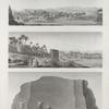 Île d'Éléphantine et Syène [Aswân]. 1. Vue de l'île et des environs; 2. Vue de Syène; 3. Vue d'un rocher de granit portant les traces de l'exploitation.