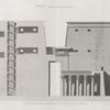 Edfou [Idfû] (Apollinopolis Magna). Coupe et élévation intérieure du pylône du Grand Temple.