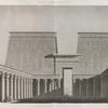 Edfou [Idfû] (Apollinopolis Magna). Vue perspective du pylône et de la cour du Grand Temple.