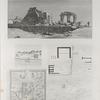 El Kab (Elethyia). 1.2. Plans des ruines et des environs; 3.4. Vue et plan particulier des édifices.