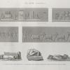 El Kab (Elethyia). 1-4. Bas-reliefs des grottes; 5-7. Fragmens de statues trouvées dans les ruines de la ville.