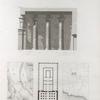 Esné [Isnâ] (Latopolis). 1.2. Plan des environs d'Esné et d'une partie de la ville; 3. Plan du temple; 4. Coupe du portique.