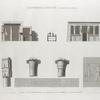 Environs d'Esné [Isnâ] (Contralato [Contra-Latopolis]). Plan, coupe, élévation et détails d'un temple à Contralato.