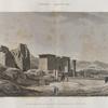 Thèbes. Medynet-Abou [Medinet Habu]. Vue des propylées du temple et du pavillon, prise du côté du sud.