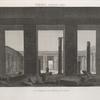 Thèbes. Medynet-Abou [Medinet Habu]. Vue intérieure du péristyle du palais.