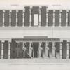 Thèbes. Memnonium [Ramesseum]. Coupes transversales du péristyle et de la salle hypostyle du tombeau d'Osymandyas.