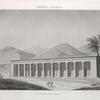 Thèbes. Qournah [Qurna]. Vue perspective du palais.