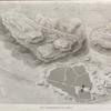 Thèbes. Louqsor [Luxor]. Plan topographique des ruines.