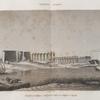 Thèbes. Louqsor [Luxor]. Vue générale prise d'une île en face des ruines du palais.