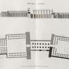 Thèbes. Louqsor [Luxor]. Plan et coupe logitudinale du palais.