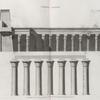 Thèbes. Louqsor [Luxor]. Première et seconde parties de la coupe logitudinale du palais.