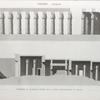 Thèbes. Louqsor [Luxor]. Troisième et quatrième parties de la coupe logitudinale du palais.
