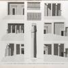 Thèbes. Louqsor [Luxor]. 1-6. Suite des coupes transversales; 7-9.  Détails d'une colonne d'une frise et d'une corniche du palais.