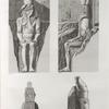 Thèbes. Louqsor [Luxor]. Détails des colosses oriental et occidental placés prés de la porte du palais.