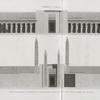 Thèbes. Karnak. 1. Coupe transversale du péristyle du palais; 2. Coupe transversale du palais prise en avant des obélisques.