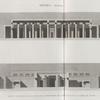 Thèbes. Karnak. Coupes transversales en avant des appartemens de granit et dans la galerie du palais.
