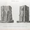 Thèbes. Karnak. Vues d'un bloc en granit orné de six figures, trouvé près de la galerie du palais.
