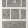Thèbes. Karnak. Divers bas-reliefs sculptés sur les stèles et les murs des appartemens de granit du palais.