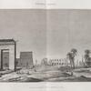 Thèbes. Karnak. Vue de la porte et des temples du sud.