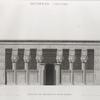 Denderah [Dandara] (Tentyris). Élévation du portique du Grand Temple.
