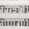 Denderah [Dandara] (Tentyris). Coupes longitudinales du Grand Temple.