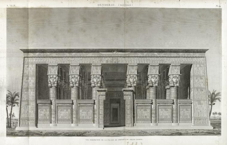 This is What Temple of Hathor Looked Like  in 1817