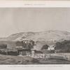 Syout [Asyût] (Lycopolis). Vue de la montagne et des hypogées prise à l'extrémité de la ville du côté de l'ouest.