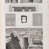 Syout [Asyût] (Lycopolis). 1-8. Plan, coupe, élévation et détails d'un hypogée; 9.10. Vues de deux hypogées.