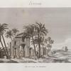 Antinoë [Antinoöpolis]. Vue de l'arc de triomphe.