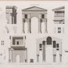 Antinoë [Antinoöpolis]. Plan, élévation, coupes et détails de l'arc de triumphe.