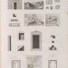 Heptanomide. 1. Plan de Cusae [El-Qusiya]; 2-6. Antiquités de Meylâouy et des environs; 7-10. Deyr au nord d'Antinoé; 11-13. Deyr Abou-Fâneh; 14-20. Plan et détails de Tehné [El-Tahahneh]; 21. Vue d'Ouâdy el-Teyr.