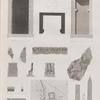 Isthme de Soueys [Isthmus of Suez], Bubaste [Bubastis], Tanis, Thmuis. 1-4. Fragmens Persépolitains; 5. Mouqfâr; 6-8. Groupe d'Aboukeycheyd; 9. Antiquités de Bubaste; 10. de Tanis; 16-19. Monolithe de Thmuis.
