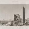 Alexandrie [Alexandria]. Vue de l'obélisque appellé Aiguille de Cléopatre et de la tour dite des romains, prise du sud-ouest.