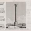Alexandrie [Alexandria]. Vue profils et détails de la grande colonne appelée communément Colonne de Pompée.
