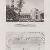 Alexandrie [Alexandria]. 1. Vue intérieure d'une ancienne basilique, vulgairement nommée Mosquée de St. Athanase; 2.3. Plan et coupe d'un stade situé au sud-ouest de la colonne dite de  Pompée.