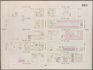 [Plate 101: Map bounded by West 52nd Street, Eighth Avenue, West 47th Street, Tenth Avenue.]